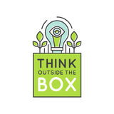 Think Outside the Box Concept , Imagination, Smart Solution, Creativity and Brainstorming Collaboration Royalty Free Stock Photo