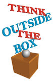Think Outside The Box. 3D illustration Think Outside The Box concept isolated on white vector illustration