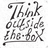 Think outside the box - design element. Stock Photography