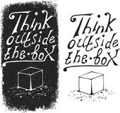 Think outside the box - design element. Stock Photos