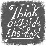 Think outside the box - design element. Royalty Free Stock Images