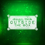 Always think outside the box Royalty Free Stock Image