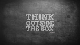 Think outside the box. On grey screen vector illustration