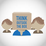 Think outside the box group Royalty Free Stock Photography