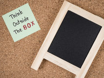 Think outside the box 2 Royalty Free Stock Image