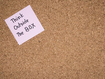 Think outside the box 3 stock images