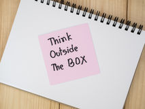 Think outside the box 14 Royalty Free Stock Photography