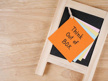 Think outside the box 9 Stock Images