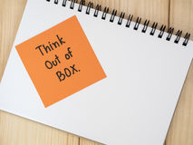 Think outside the box 13 Royalty Free Stock Image