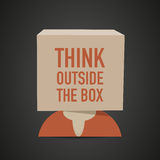 Think outside the box head Royalty Free Stock Image