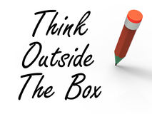 Think Outside the Box Means Creativity and Royalty Free Stock Image