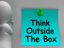 Think Outside The Box Means Different Royalty Free Stock Photo