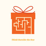 Think outside the box. Minimal design of think outside the box concept Stock Images