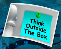 Think Outside The Box Photo Means Different Unconventional Think Stock Photos