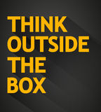 Think outside the box poster Royalty Free Stock Photos