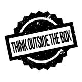 Think Outside The Box rubber stamp. Grunge design with dust scratches. Effects can be easily removed for a clean, crisp look. Color is easily changed Royalty Free Stock Photo