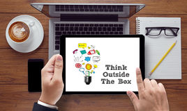 Think Outside The Box stock illustration