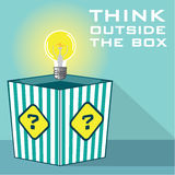 Think Outside The Box Vector. Eps file Royalty Free Stock Photography