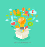 Think outside the box. Think outside the box vector illustration. EPS 10 Stock Photo