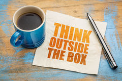 Think outside the box word abstract Royalty Free Stock Image