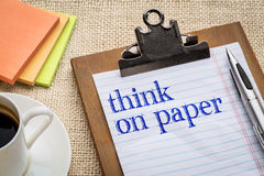 Think on paper advice Stock Images