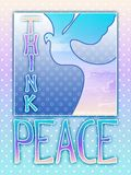Think Peace Dove royalty free stock photography