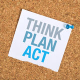 Think Plan Act Royalty Free Stock Images
