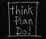 Think Plan Do! Royalty Free Stock Photo