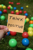 Think positive. Forget your worries, put things into perspective and think positive royalty free stock photography