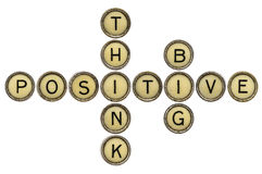 Think positive and big royalty free stock images