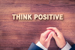 Think positive concept Stock Photography