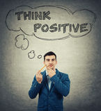 Think positive concept Royalty Free Stock Photos