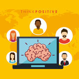 Think positive design Stock Photos