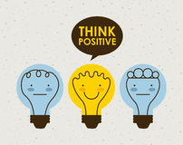 Think positive design Stock Images
