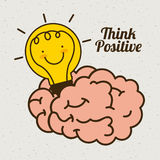 Think positive design Royalty Free Stock Photo