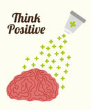 Think positive design. Stock Image