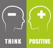 Think positive design. Royalty Free Stock Photos