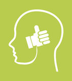Think positive. Design, vector illustration eps10 graphic Royalty Free Stock Photography