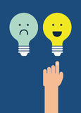 Think positive. Design, vector illustration eps10 graphic Stock Photo