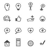 Think positive icons Royalty Free Stock Photography