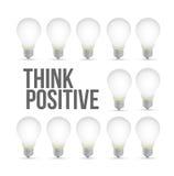 Think positive idea light bulb pattern concept Stock Photography