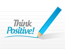 Think positive message illustration design Stock Image