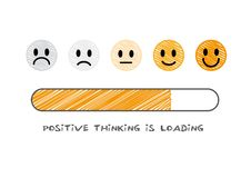 Positive thinking is loading - vector illustration royalty free stock photos