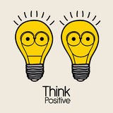 Think  positive. Think positive over pink  background  illustration Royalty Free Stock Photos