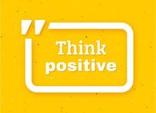 Think positive quote typographic background Stock Photo