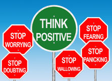 Think Positive Road Sign Royalty Free Stock Image