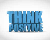 Think positive sign illustration design Stock Images