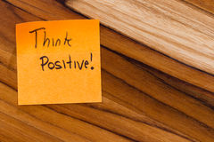 Think positive Royalty Free Stock Photography