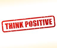 Think positive text stamp. Illustration of think positive text stamp Royalty Free Stock Images