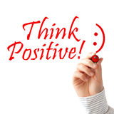 Think positive. Text on white background Stock Image